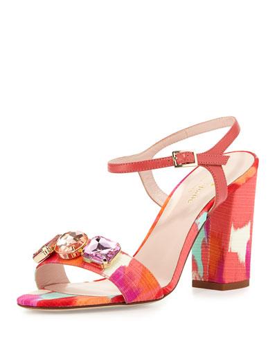 imorana ikat crepe sandal, pink/multi