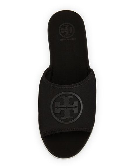 Neoprene Logo Slide Sandal, Black