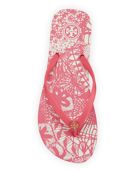Logo Rubber Flip-Flop, Bloom/Dreamcatcher