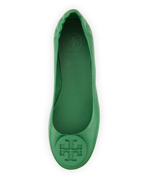 Packable Logo Ballet Flat, Emerald