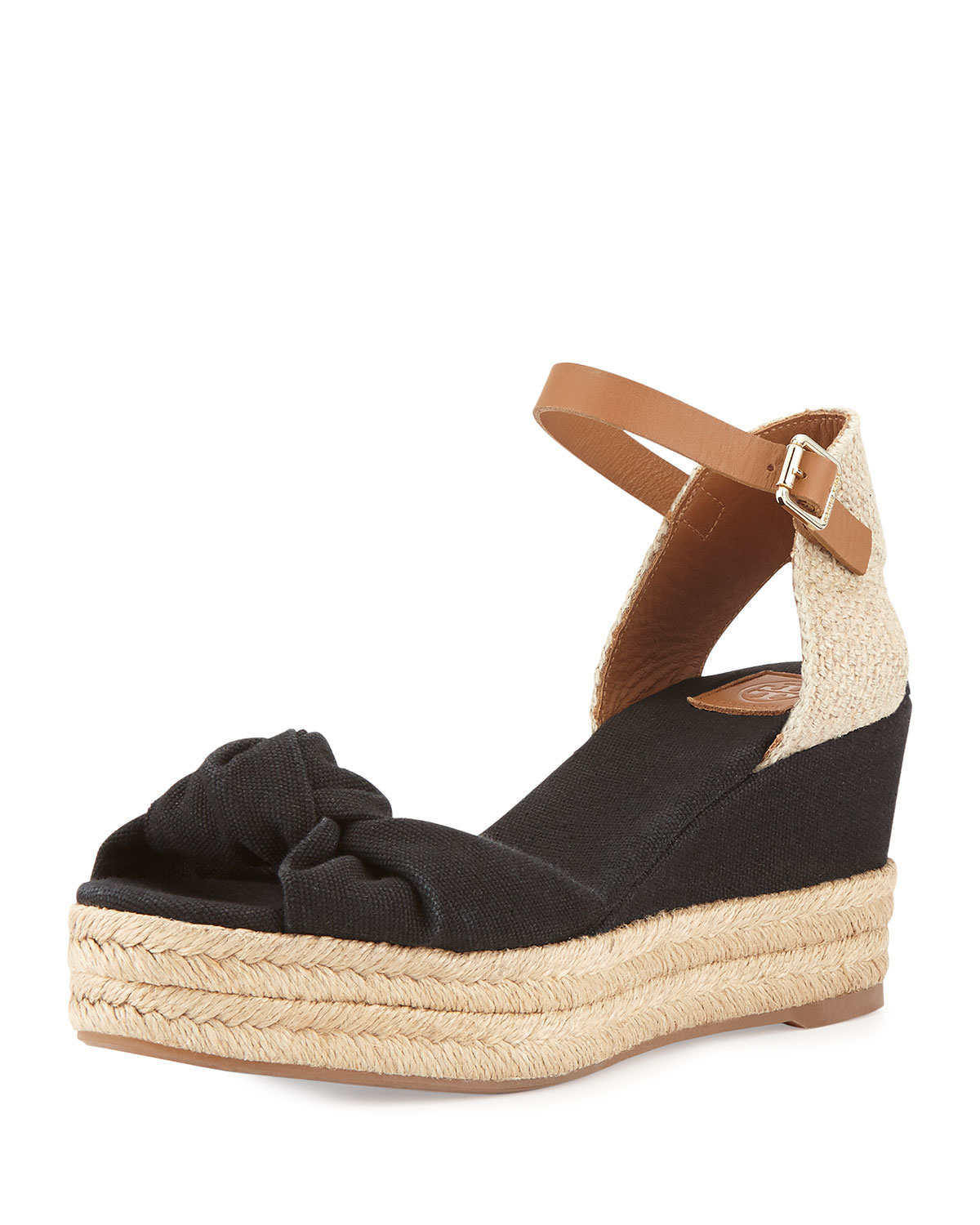 e0f00c5f337d Tory Burch Knotted Bow Wedge Sandal