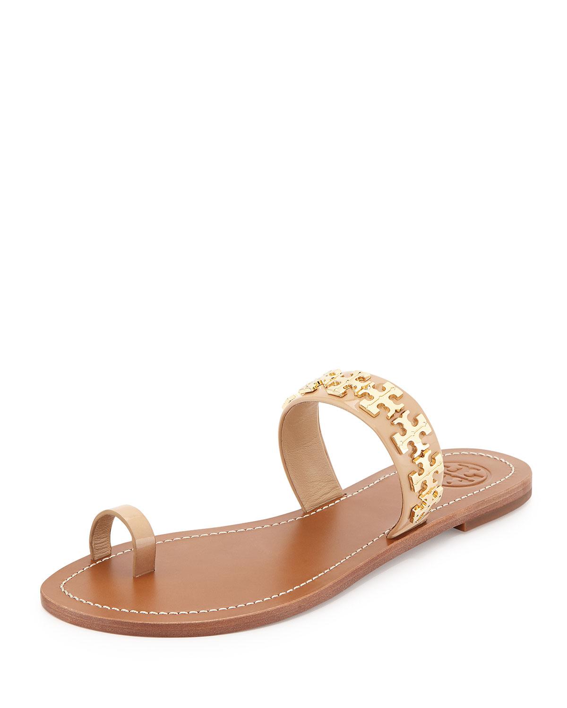 b47146175d69 Tory Burch Val Patent Flat Sandal
