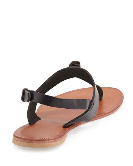 Bastia Knot Thong Sandal, Black