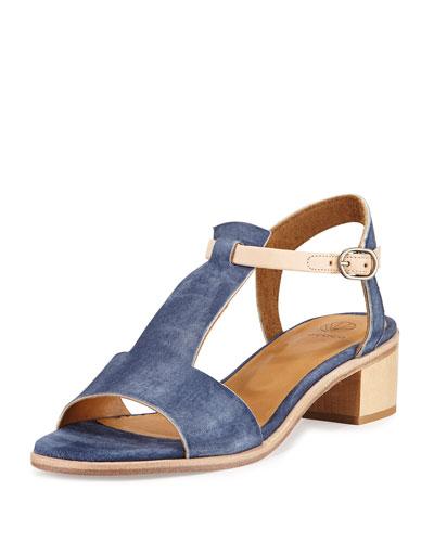 Toto City Two-Tone Sandal, Medium Blue