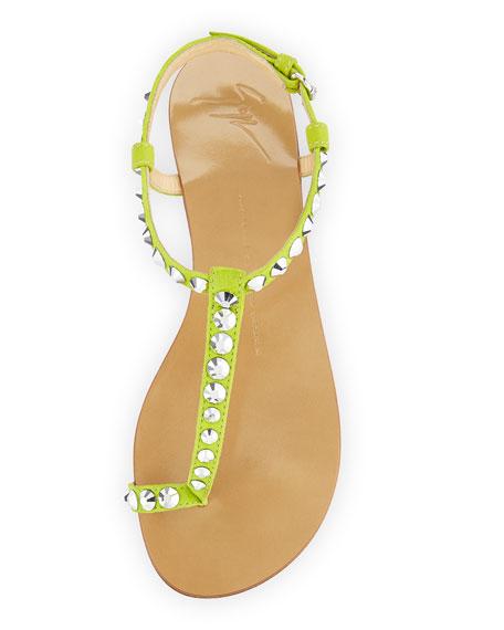 aa1e90c2cde Giuseppe Zanotti Rhinestone-Embellished Flat Sandal