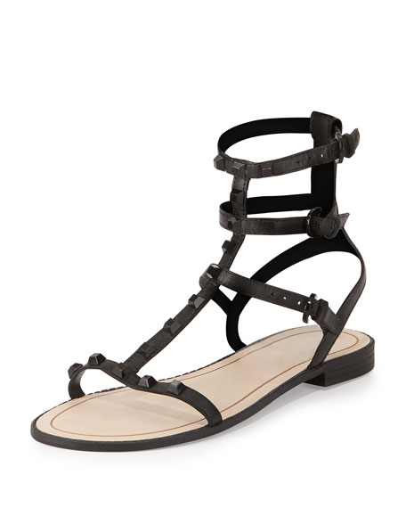 Rebecca Minkoff Georgina Studded Gladiator Sandal, Black