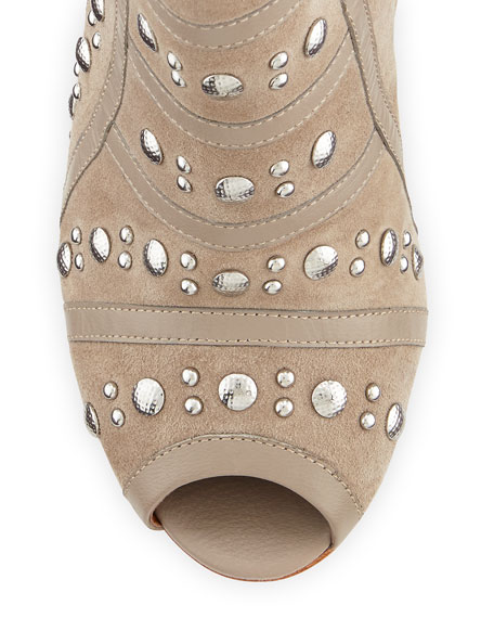 Mila Runway Studded Bootie, Sand