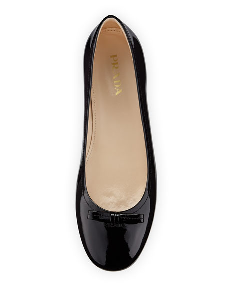 Patent Leather Ballet Flat, Nero