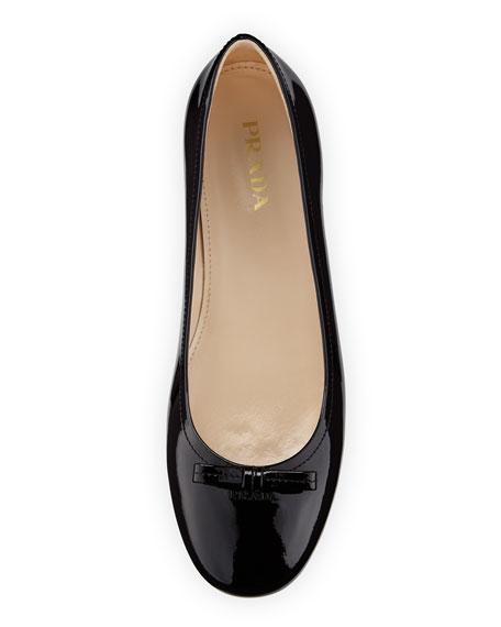 3db039138 Prada Patent Leather Ballet Flat, Nero | Neiman Marcus