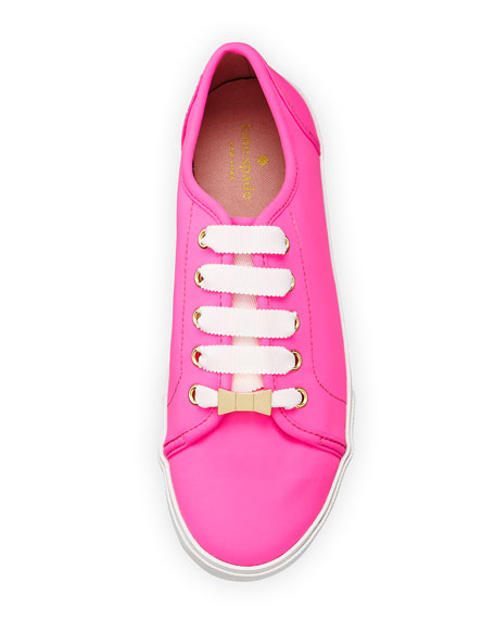 kate spade new york keds lodero neoprene sneaker, neon pink