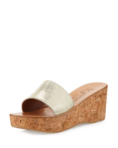 Kirelle Metallic Wedge Sandal, Ray Gold