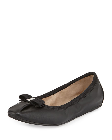 Salvatore FerragamoMy Joy Matte Leather Ballet Flat, Nero