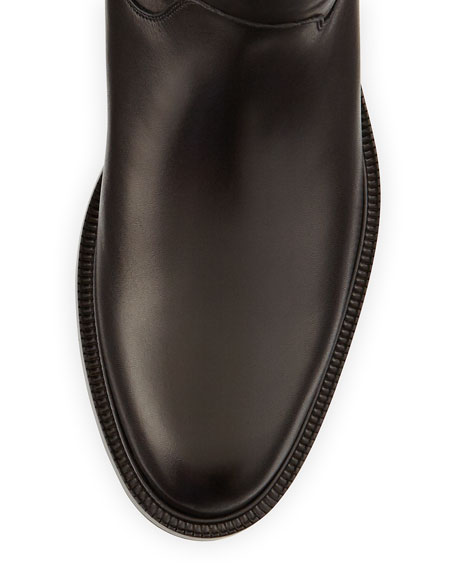 Luxor Calfskin Riding Boot, Black