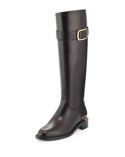Luxor Calfskin Riding Boot, Black