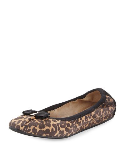 My Joy Scrunch Ballet Flat, Leopard