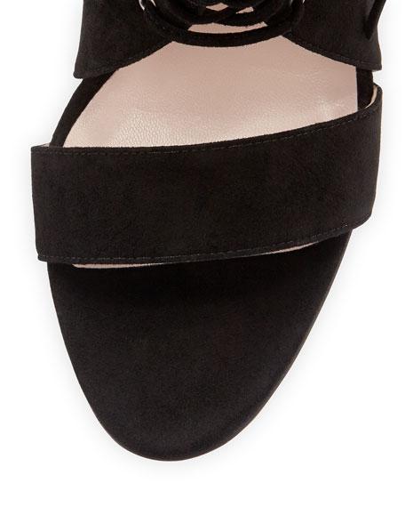 Florencia Tie-Front Sandal, Black