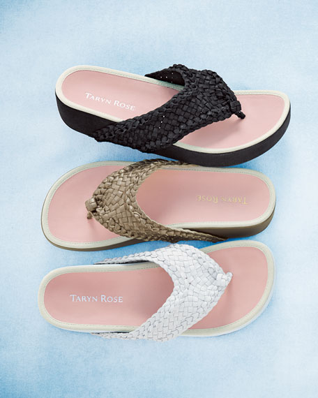Alvis Woven Flip-Flop Sandal, Black