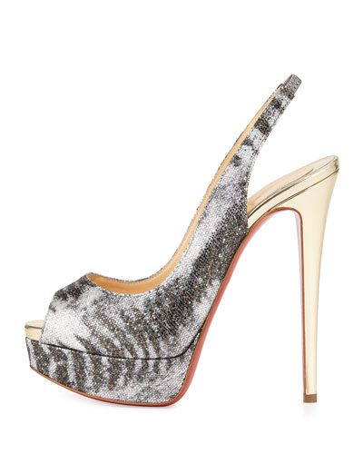 Artesur ? christian louboutin leather platform slingback pumps ...