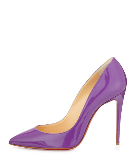 christian louboutin pigalle follies red sole pump digitale purple