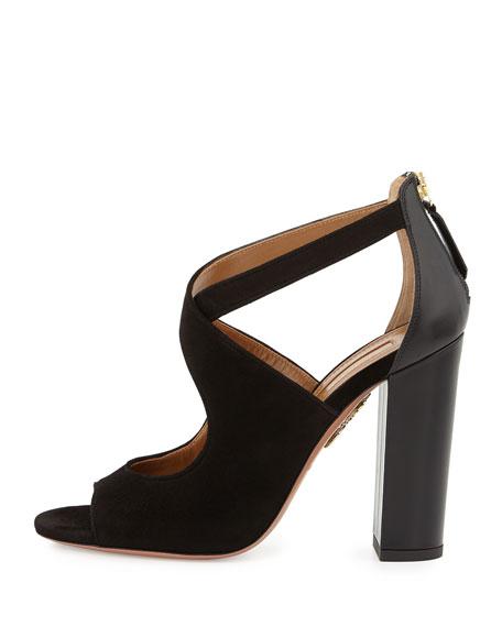Belmont Chunky-Heel Sandal, Black