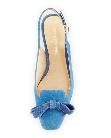 Sofia Kitten-Heel Slingback Pump, Blue