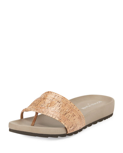 Tiso Cork Sandal Slide, Natural