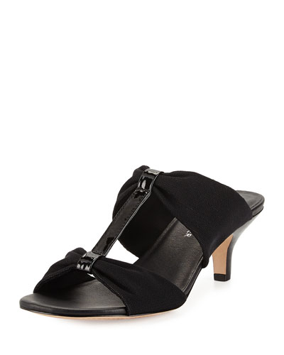 Randi Double-T Stretch Sandal, Black