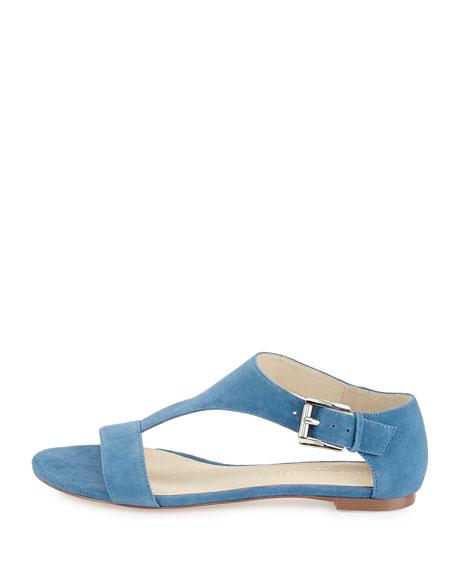 Donald J Pliner Tami Suede T-Strap Sandal, Blue