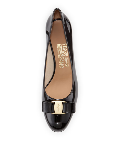 Bow Patent-Leather Pump, Nero