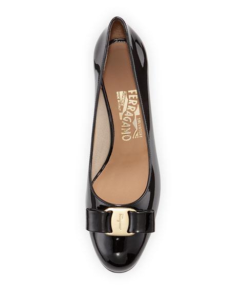 Bow Patent-Leather Pump, Nero
