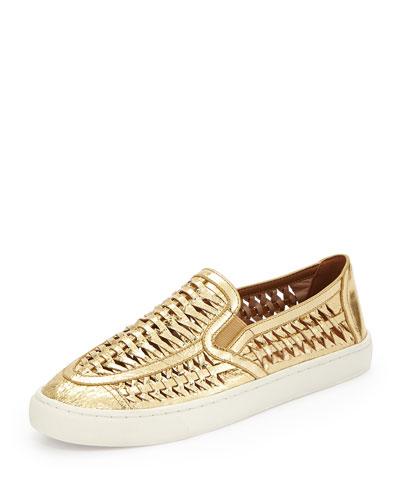 Huarache Slip-On Sneaker, Golden