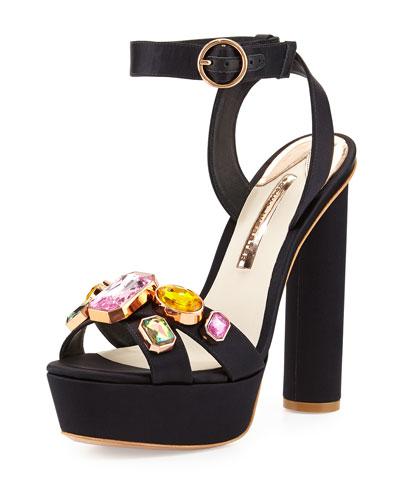 Amanda Gem Platform Sandal, Black