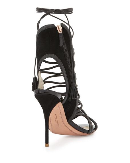 Lacey Lace-Up Gladiator Sandal, Black