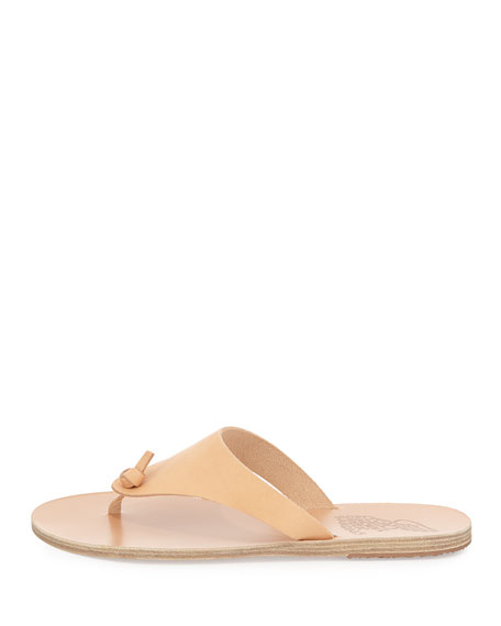 Igia Leather Thong Sandal, Nude