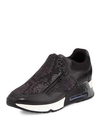Lenny Platform Trainer Sneaker, Black