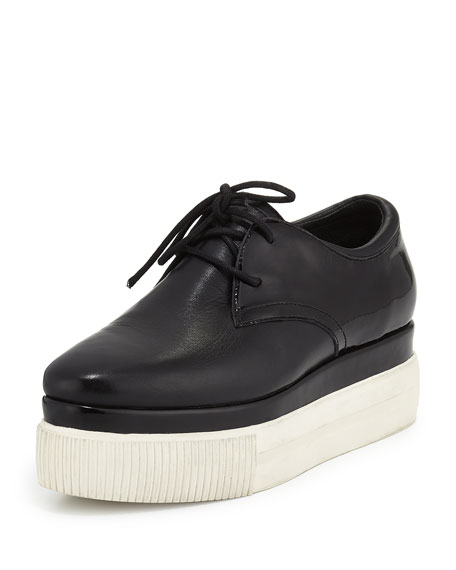 Katia Lace-Up Platform Sneaker, Black