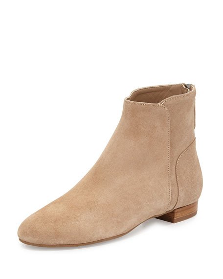Delman Myth Suede Ankle Boot, Flesh