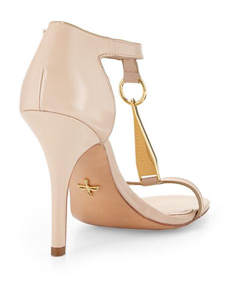 Yolanda Vachetta Leather Sandal, Nude