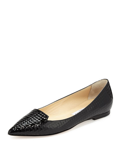 Atilla Cubed Patent Loafer, Black