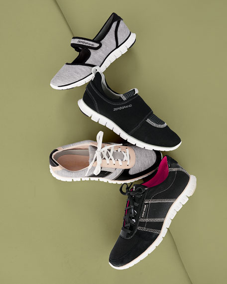 ZeroGrand Lace-Up Sneaker, Gray/Black