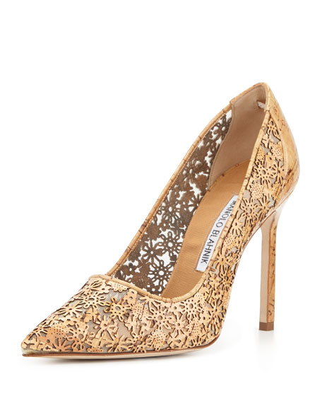 Ichi Laser-Cut Cork Pump, Natural