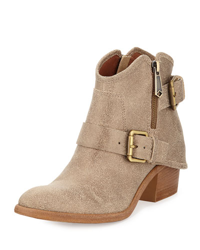 Dalis Hooded Short Western Bootie, Bronze