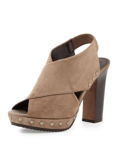 Jaggar Platform Clog Sandal, Taupe