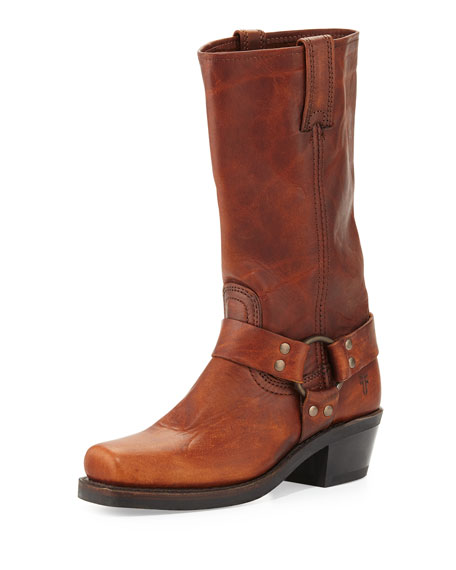Frye Harness 12R Leather Boot, Cognac