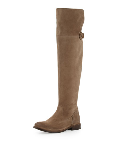 Shirley Over-The-Knee Riding Boot, Ash