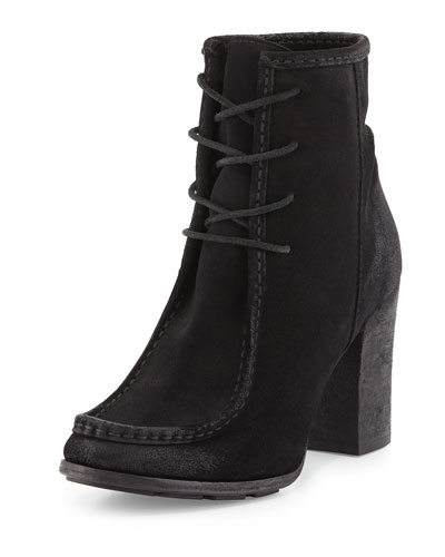Parker Suede Moc Boot, Black