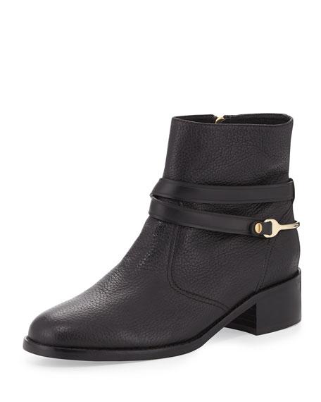 L.K. Bennett Romilly Leather Ankle Boot, Black