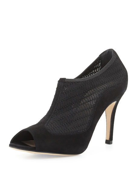 L.K. Bennett Mesh Peep-Toe Booties cheap best prices R41g9xOL
