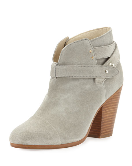 Harrow Leather Ankle Boot, Light Gray