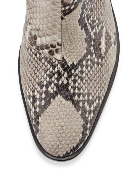 Dixon Slip-On Leather Boot, Fawn Python